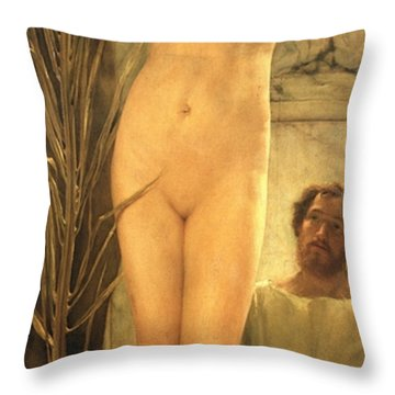 The Sculptor's Model Throw Pillow by Sir Lawrence Alma-Tadema