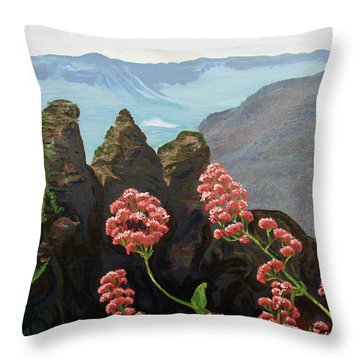 The Three Sisters Throw Pillow by Tatjana Popovska