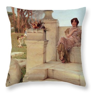 The Voice Of Spring Throw Pillow by Sir Lawrence Alma-Tadema