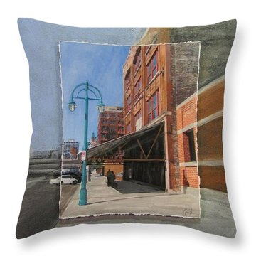 Third Ward - Market Street Throw Pillow by Anita Burgermeister