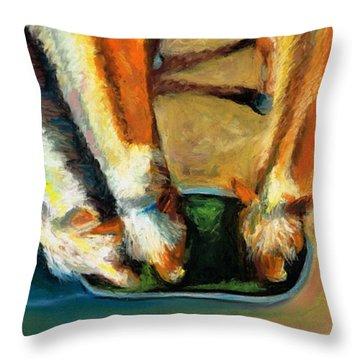 Three Palominos Throw Pillow by Frances Marino