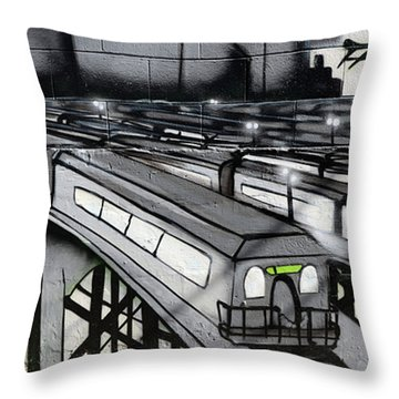 Transporters Throw Pillow by Bob Christopher