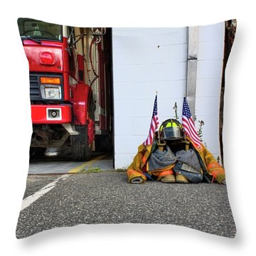 Throw Pillow featuring the photograph Tribute Color by Greg DeBeck