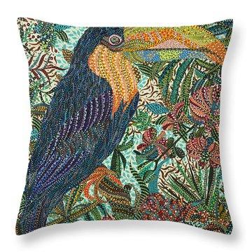 Tropican Throw Pillow by Erika Pochybova