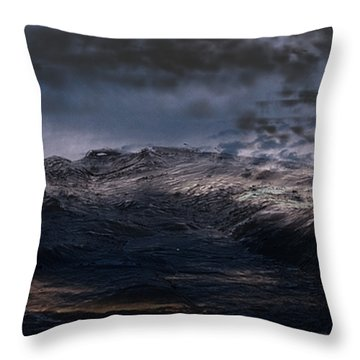 Troubled Waters Throw Pillow by James Barnes