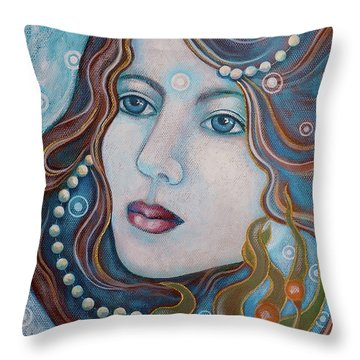 Water Dreamer Throw Pillow by Sheri Howe
