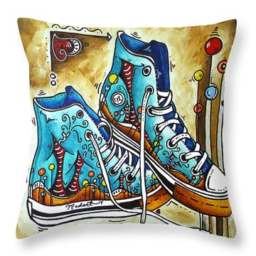 Whimsical Shoes By Madart Throw Pillow by Megan Duncanson