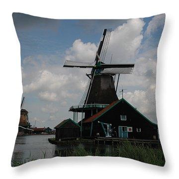 Windmill 3 Throw Pillow by Vilas Malankar