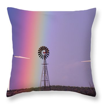 Windmill Promises Old And New Throw Pillow