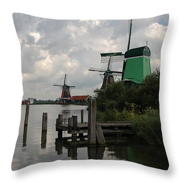 Windmills 2 Throw Pillow by Vilas Malankar