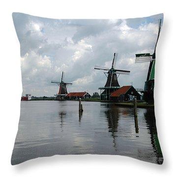 Windmills Throw Pillow by Vilas Malankar