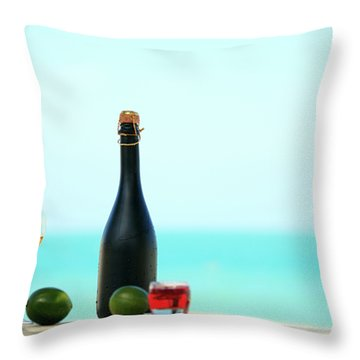 Wine  Throw Pillow by MotHaiBaPhoto Prints