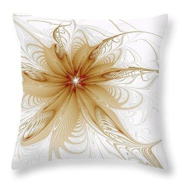 Wispy Throw Pillow by Amanda Moore