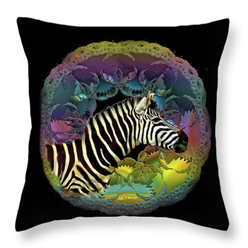 Zebra Throw Pillow by Julie Grace