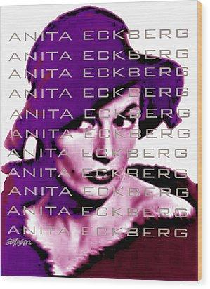Anita Eckberg In Wine Wood Print by Seth Weaver