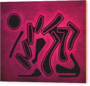Color Abstraction 1 Wood Print by Dr Joseph Uphoff