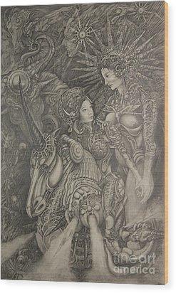 Constelacion Wood Print by Ignacio Bernacer Alpera