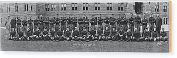 Georgetown U Football Squad Wood Print by Fred Schutz Collection