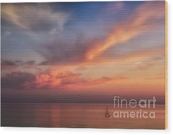 Good Morning Cape Cod Wood Print by Susan Candelario