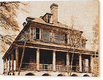 Wood Print featuring the digital art This Old House by Chuck Mountain