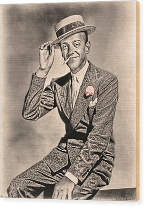 Wood Print featuring the painting Young Mr.astaire by Tyler Robbins