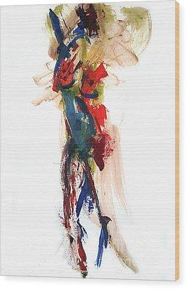 04160 Joy Wood Print by AnneKarin Glass