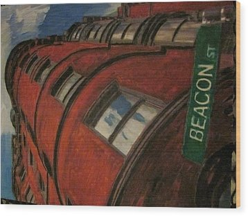 Beacon St Wood Print by David Poyant