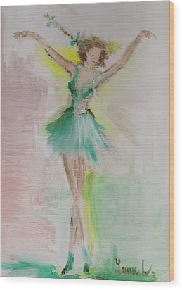 Wood Print featuring the painting Dance by Laurie L