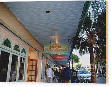 Jimmy Buffet's Margaritaville Key West Wood Print by Susanne Van Hulst