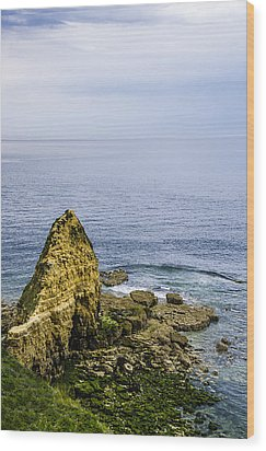 Wood Print featuring the photograph Pointe Du Hoc by Marta Cavazos-Hernandez
