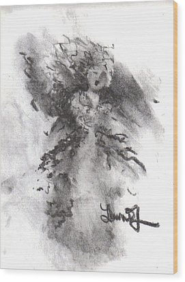 Wood Print featuring the drawing Rapture Of Peace by Laurie L