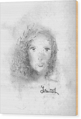 Wood Print featuring the drawing Something About Mary by Laurie L