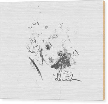 Wood Print featuring the drawing Just Country by Laurie L