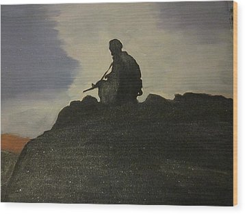 Watching Over Us Wood Print by David Poyant
