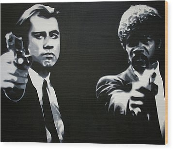 - Pulp Fiction - Wood Print by Luis Ludzska