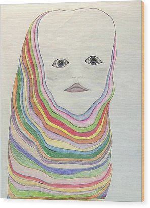 The Masks Wood Print