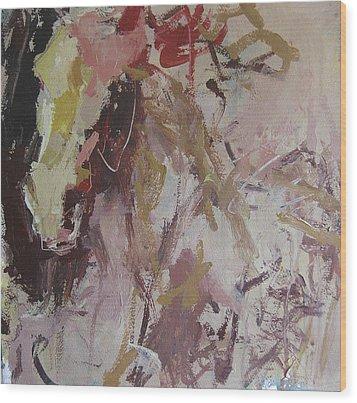Abstract Horse  Wood Print