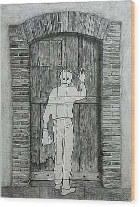 Being Taken Wood Print by Riccardo Alone