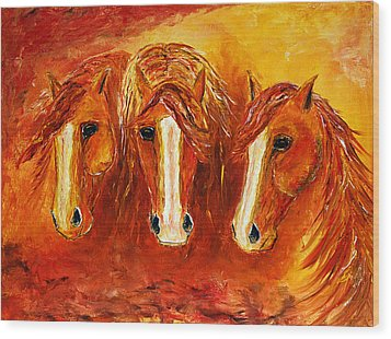 Fire Angels Wood Print by Jennifer Godshalk