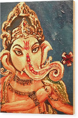 Ganesh Wood Print by Sabrina Phillips