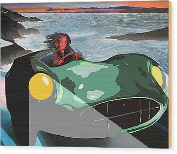 Girl In Green Aston Wood Print by Geoff Greene