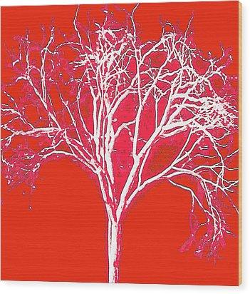 Imagination Tree Wood Print by James Mancini Heath