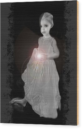 She Brings The Light Wood Print by Shelly Stallings