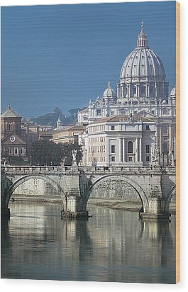 St Peters Basilica, Rome, Italy Wood Print by Martin Child