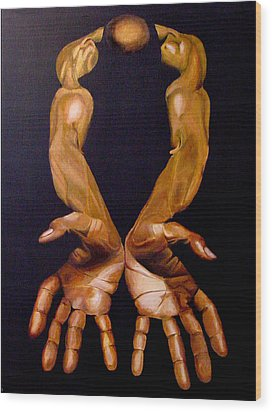 The Hands Of A Body Builder Wood Print