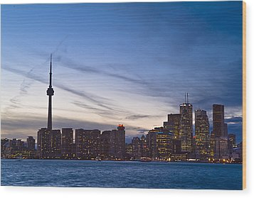 View From Islands Of Skyline Toronto Wood Print by Richard Nowitz