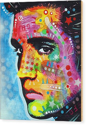 Elvis Presley Wood Print by Dean Russo