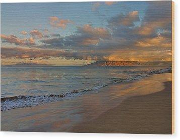 Maui Dawn Wood Print by Stephen  Vecchiotti
