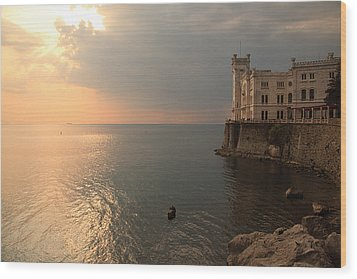 Miramare Sunset Wood Print