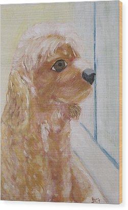 Rusty Aka Digger Dog Wood Print